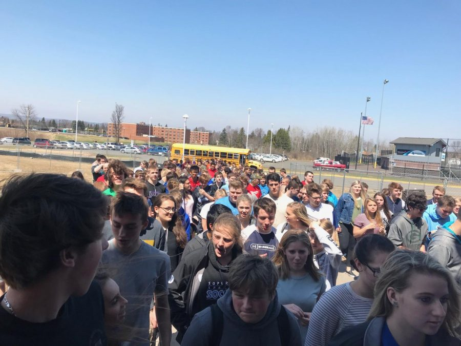 Students Practice Fire Drill