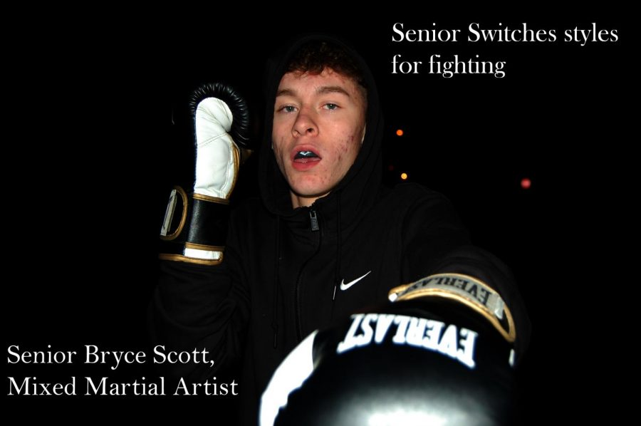Bryce+Scott+poses+with+his+boxing+gloves+on+Oct.+26.+