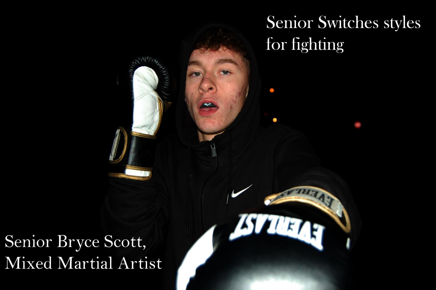 Bryce Scott poses with his boxing gloves on Oct. 26.