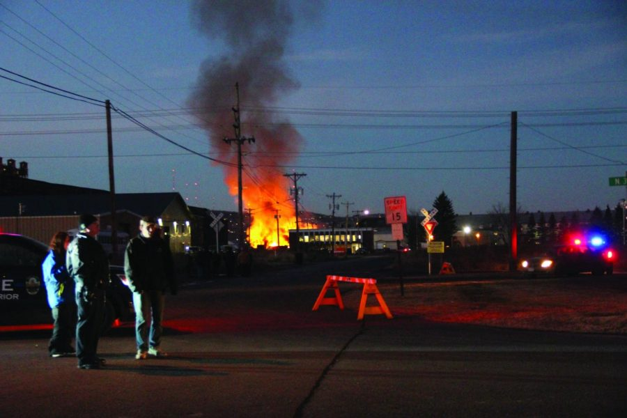 Local grain goes down in flames
