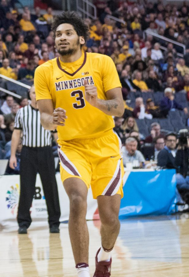 Minnesota's Jordan Murphy scored 18 points to help Minnesota upset Louisville in the opening game of March Madness last night.
