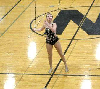 Twirler whirls her way to College Performance