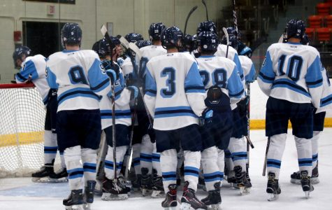 Varsity boys' hockey win home opener against Marshall Hilltoppers