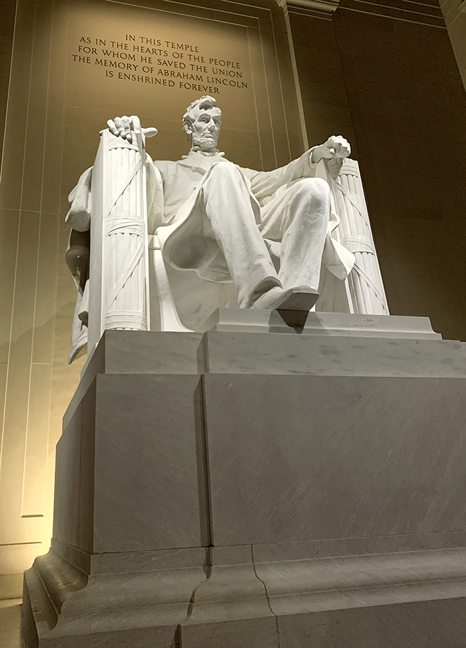 When 16 students traveled to Washington DC to attend the national fall journalism convention, they also got to tour the sites, including the Lincoln Memorial Nov. 21. This was taken with a cell phone while at the foot of the Lincoln Memorial.