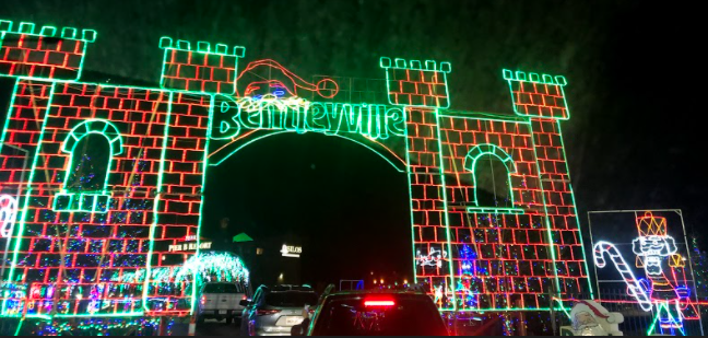 """The gate into the """"Tour of Lights"""" stayed the same through the changes made for the 2020 season."""