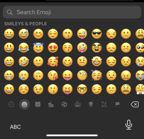 Wyatt Pahos searched his IPhone XR for the appropriate emoji to add a funny vibe to a text that was sent to his brother.