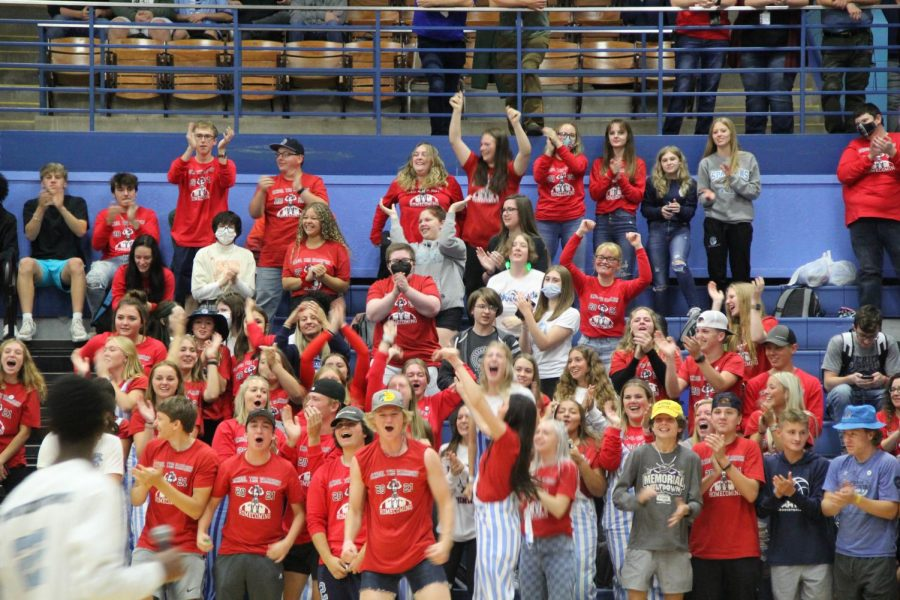 The Seniors were the most excited for this Assembly, especially after not having one last year due to COVID-19, and they were cheering the loudest for their other students involved in the events in mini games.