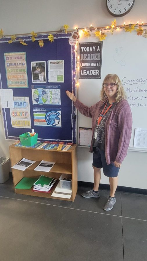 On Sept. 22, Special Education Teacher Karen Finstad is showing the Spartan Grade to her students to help explain it to her best effort.